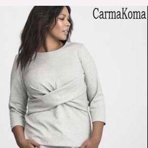 Carmakoma XL gray NWT sweater top